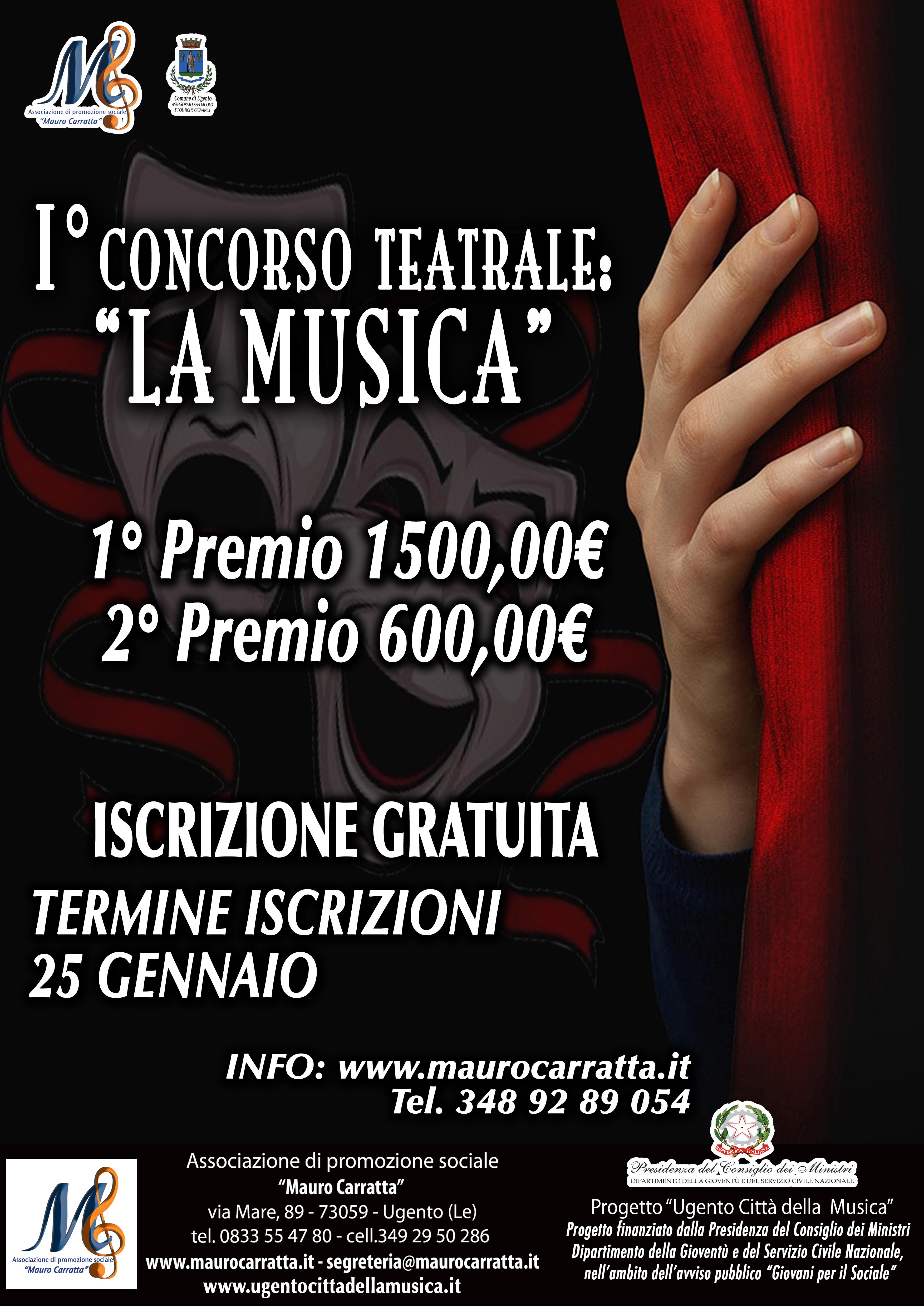 prima edizione concorso teatrale LA MUSICA - proroga